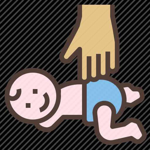 baby, body, hand, massage icon