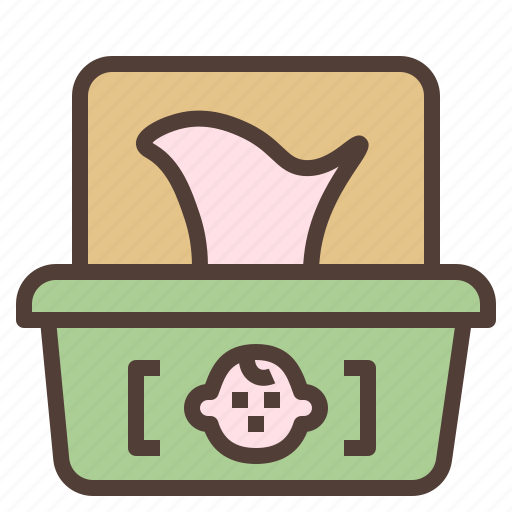baby, cleaning, hygience, paper, wipe icon