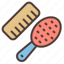 brush, comb, cosmetic, hair, makeup icon