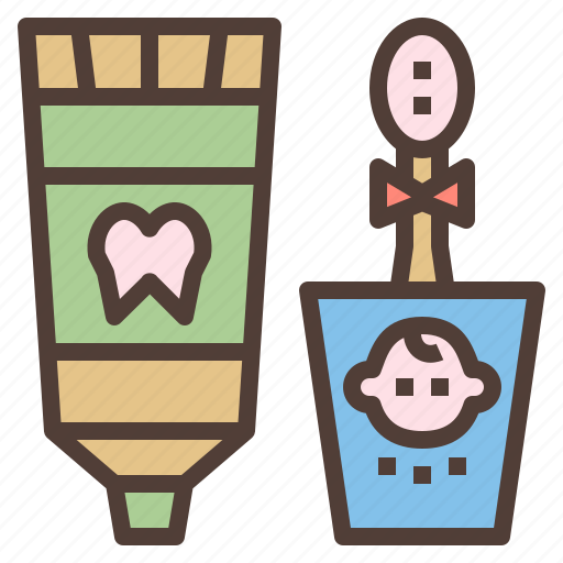 brush, care, dental, set, tooth icon