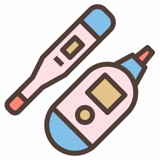 digital, equipment, fever, thermometer icon