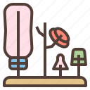 bottle, clean, drying, rack icon