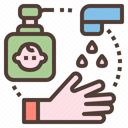 clean, hand, hygiene, washing, water icon