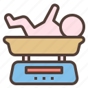 baby, grow, height, measure, newborn, weigh icon