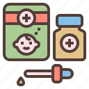 baby, fever, health, illness, medicine icon