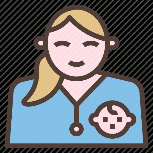 children, doctor, pediatrician, treatment icon