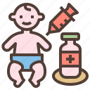 baby, health, injection, medicine, vaccination icon