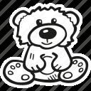 animal, baby, baby shower, bear, pregnancy, stuffed, teddy bear icon