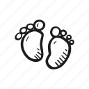 baby, baby feet, baby shower, mother-to-be, party, pregnancy icon