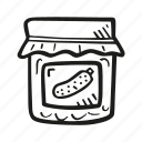 baby, baby shower, craving, jar, party, pickle, pregnancy icon