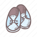 baby, baby shower, boots, boy, mother-to-be, party, pregnancy icon