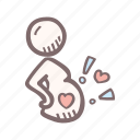 baby, baby shower, bump, mother-to-be, party, pregnancy icon