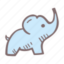 baby, baby shower, elephant, mother-to-be, party, pregnancy icon