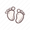 baby, baby shower, feet, mother-to-be, party, pregnancy icon