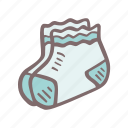 baby, baby shower, mother-to-be, party, pregnancy, socks icon