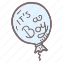 baloon, it's a boy icon