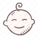 baby, baby shower, head, infant, mother-to-be, party, pregnancy icon