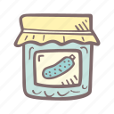 baby, baby shower, craving, jar, mother-to-be, party, pickle, pregnancy icon
