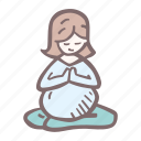 baby, baby shower, mother-to-be, party, pregnancy, yoga icon