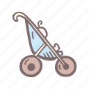 baby, baby shower, mother-to-be, open, party, pregnancy, stroller icon