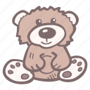 animal, baby, baby shower, bear, party, pregnancy, teddy bear icon