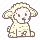 animal, baby, baby shower, pregnancy, sheep, stuffed, toy icon