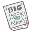 mother-to-be, baby, book, names, baby shower, pregnancy, party