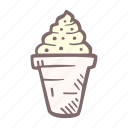 baby, baby shower, craving, cream, ice, party, pregnancy icon