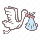 baby, baby shower, mother-to-be, party, pregnancy, stork icon