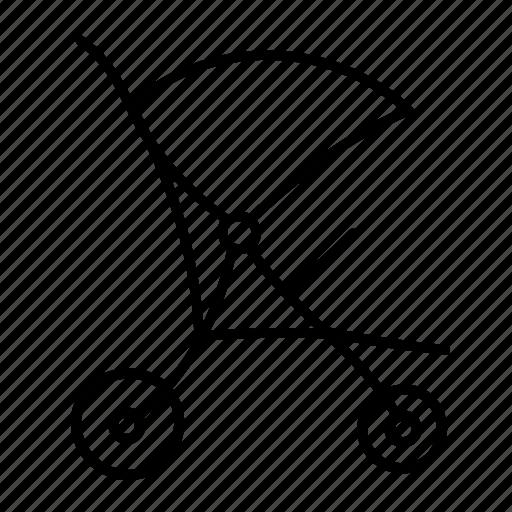 Baby, buggy, infant, pram, push, stroller, toddler icon - Download on Iconfinder