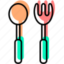 baby, baby stuff, food, fork, kid, meal, spoon icon