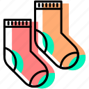 baby, baby stuff, child, clothes, kid, socks icon