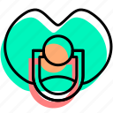 baby, baby stuff, child, kid, nipple, toy icon