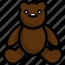 line, outline, cute, animal, teddy, bear, toy