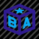abc, alphabet, baby, block, cube, infant, toy