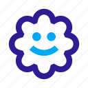 emotion, face, flower, happy, smile, smiley, toy icon