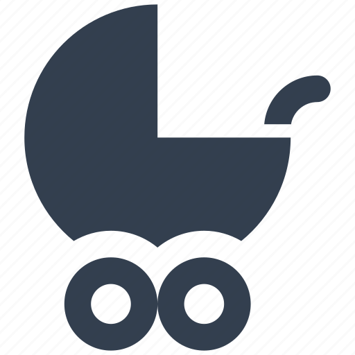 baby, push, stroller icon