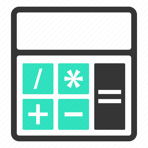 budget, calculator, estimation, maths icon