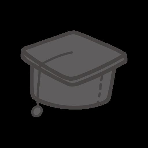 graduation cap, object, school, student, study icon