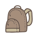 backpack, bag, object, school, student, study icon