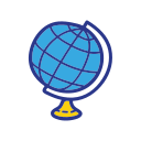 globe, object, school, student, study icon