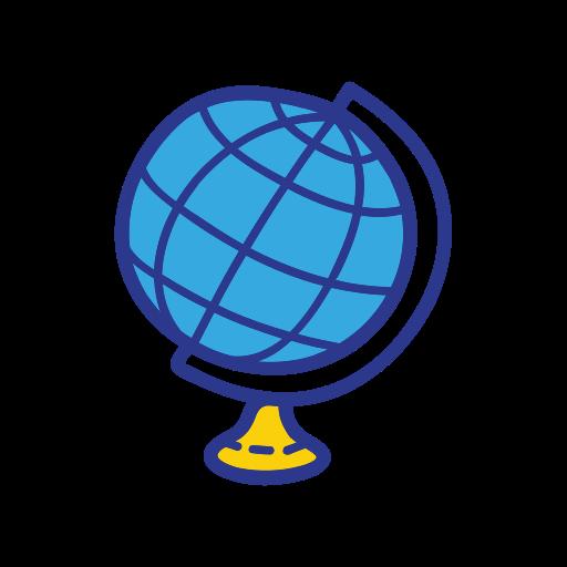 globe, object, school, student, study icon