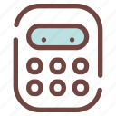 backtoschool, calculator, childhood, education, school, study, supply icon