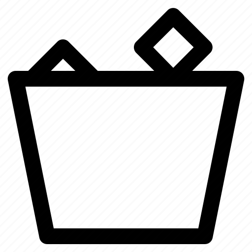 collage, school, trash, trash can icon