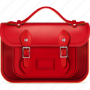 back to school, cartella, red, satchel, school icon