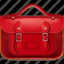 back to school, cartella, red, satchel, school icon