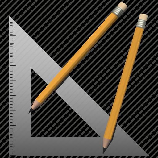 back to school, pencils, ruler, school icon