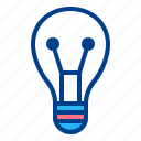 bulb, education, learning, school, study icon