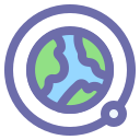 earth, geography, moon, orbit icon