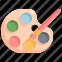 art, artist, brush, color, paint, painting, palette icon